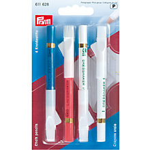 Buy Prym Chalk Pencils and Brush, Pack of 4, Assorted Online at johnlewis.com