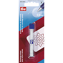 Buy Prym Cartridge Pencil Refil, 9mm, Pack of 6, White Online at johnlewis.com