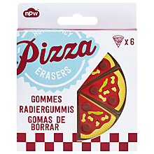 Buy Pizza Erasers, Set of 6 Online at johnlewis.com