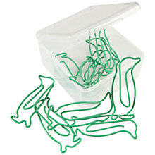 Buy Tinc Penguin Paperclips, Green, Pack of 12 Online at johnlewis.com