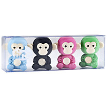 Buy Tinc Monkey Eraser Collection, Pack of 4 Online at johnlewis.com