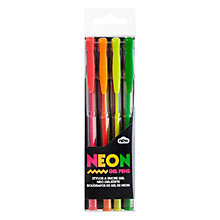 Buy Natural Products Neon Gel Pens, Multi Online at johnlewis.com