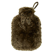 Buy John Lewis Faux Fur Hot Water Bottle and Cover Online at johnlewis.com