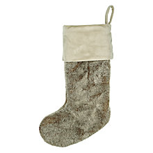 Buy John Lewis Faux Fur Christmas Stocking Online at johnlewis.com