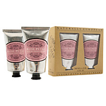 Buy Naturally European Rose Petal Hand & Foot Cream, 2 x 75ml Online at johnlewis.com