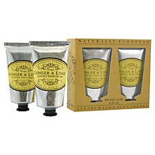 Buy Naturally European Ginger & Lime Hand & Foot Cream, 2 x 75ml Online at johnlewis.com