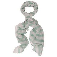 Buy French Connection Maxine Scarf, Cornflower Blue/White Online at johnlewis.com