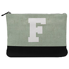 Buy French Connection Flo Jute Clutch Bag, Black Online at johnlewis.com
