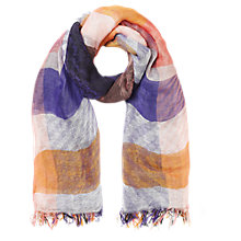 Buy Jigsaw Giant Check Scarf, Multi Online at johnlewis.com