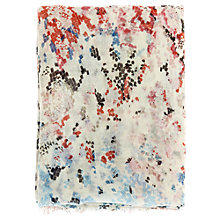 Buy Warehouse Pixelated Snake Scarf, Cream Online at johnlewis.com