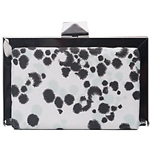Buy French Connection Pansy Clutch Handbag, Blue/White Online at johnlewis.com