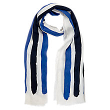 Buy Windsmoor Printed Stripe Scarf, Blue Online at johnlewis.com