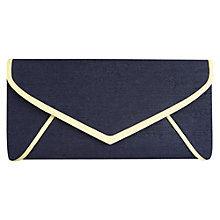 Buy Jacques Vert Trim Clutch Bag, Blue Online at johnlewis.com