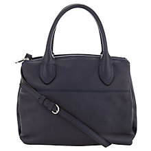 Buy Jigsaw Montreal Leather Handbag, Navy Online at johnlewis.com