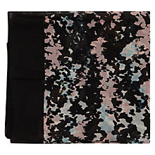 Buy Warehouse Smudgy Border Scarf, Black Online at johnlewis.com