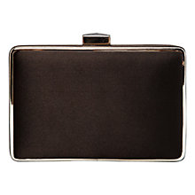 Buy Mango Satin Box Clutch Handbag, Black Online at johnlewis.com
