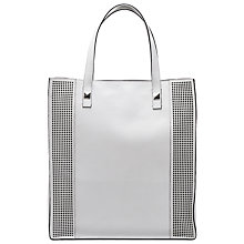 Buy French Connection Jaime Leather Shopper Handbag, White Online at johnlewis.com