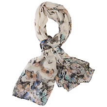 Buy Chesca Butterfly Scarf, Cream Online at johnlewis.com