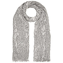 Buy Whistles Dragon Skin Print Scarf, Black/White Online at johnlewis.com
