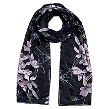 Buy Jacques Vert Floral Silk Blend Shawl, Black Online at johnlewis.com