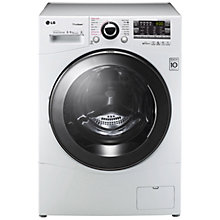 Buy LG F14A8YDH Washer Dryer, 8kg Wash/6kg Dry Load, A Energy Rating, 1400rpm Spin, White Online at johnlewis.com