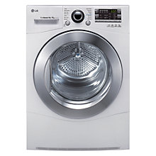 Buy LG RC8055AH2Z Condenser Tumble Dryer, 8kg Load, A++ Energy Rating, White Online at johnlewis.com
