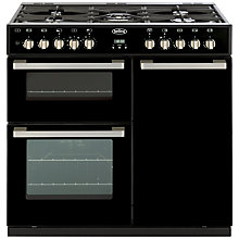 Buy Belling DB4 Deluxe 90DFT MF Dual Fuel Range Cooker, Black Online at johnlewis.com