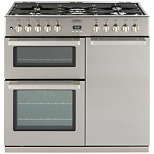 Buy Belling DB4 Deluxe 90DFT MF Dual Fuel Range Cooker, Professional Stainless Steel Online at johnlewis.com