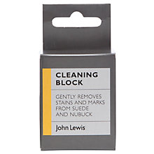 Buy John Lewis Suede & Nubuck Cleaning Block Online at johnlewis.com