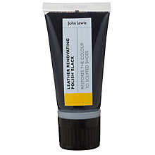 Buy John Lewis Leather Renovating Shoe Polish, 50ml, Black Online at johnlewis.com