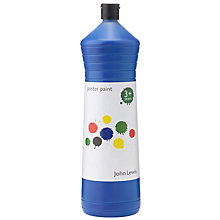 Buy John Lewis Poster Paint, 600ml, Blue Online at johnlewis.com