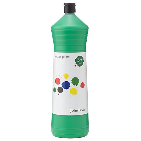 Buy John Lewis Poster Paint, 600ml, Green Online at johnlewis.com