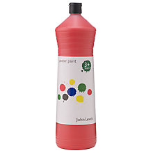Buy John Lewis Poster Paint, 600ml, Red Online at johnlewis.com