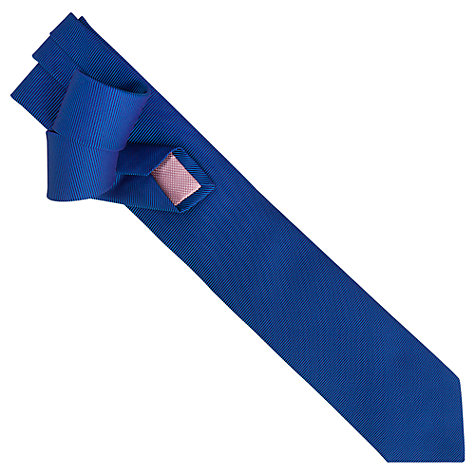 Buy Thomas Pink Alston Semi Plain Tie, Blue Online at johnlewis.com