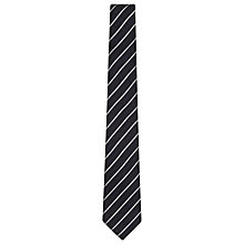 Buy Reiss Knight Linen & Silk Stripe Tie, Indigo Online at johnlewis.com