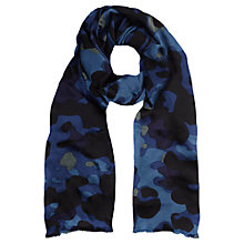 Buy Jigsaw Diffused Floral Scarf, Blue Online at johnlewis.com