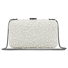 Buy Reiss Beaded Box Miro Clutch Bag, White Online at johnlewis.com