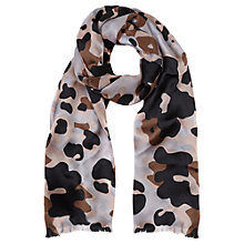 Buy Jigsaw Floral Scarf, Magenta Online at johnlewis.com