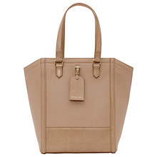 Buy Reiss Large Hayward Leather Tote Bag, Honey Online at johnlewis.com