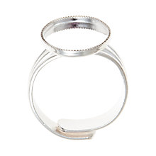 Buy John Lewis Ring Blank, Silver Online at johnlewis.com