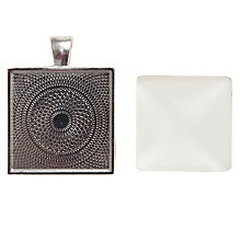 Buy John Lewis Square Cabochon Photo Pendant, Silver Online at johnlewis.com
