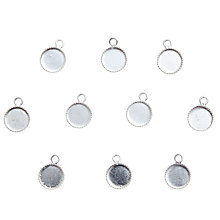 Buy John Lewis Round Pendants, 6mm, Pack of 10, Silver Online at johnlewis.com