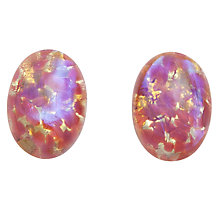 Buy John Lewis Cabochon Glass Beads, 18x13mm, Pack of 2 Online at johnlewis.com