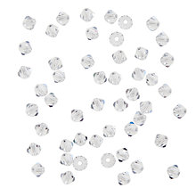 Buy John Lewis Preciosa Bicone Beads, 4mm, Pack of 50 Online at johnlewis.com
