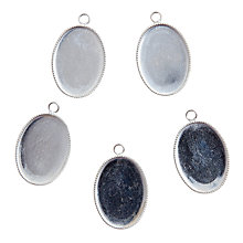 Buy John Lewis Oval Pendants, Pack of 5, Silver Online at johnlewis.com