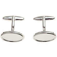 Buy John Lewis Cufflink Pair, Silver Online at johnlewis.com