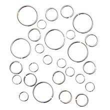 Buy John Lewis Large Silver Plated Jump Rings, 10g, Mixed Bag Online at johnlewis.com
