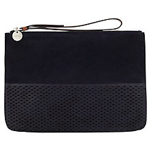 Buy Jigsaw Perforated Leather Clutch Bag Online at johnlewis.com