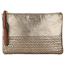 Buy Jigsaw Perforated Leather Clutch Handbag Online at johnlewis.com