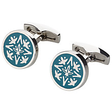 Buy Simon Carter Cummersdale Enamel Cufflinks, Teal Online at johnlewis.com